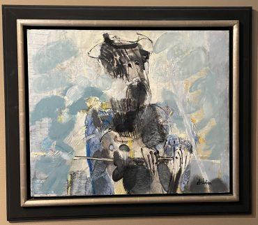 """Joel DABIN L'hidalgo de La Mancha 20 Figure: 28 3/4"""" x 23 5/8"""""""