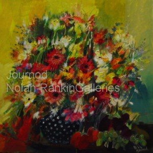 "Bouquet | NR2071| 60cm x 60cm: 23.5"" x 23.5"" | Monique Journod | Oil on Canvas | Nolan-Rankin Galleries - Houston"