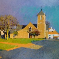 "Eglise de Saint Brevin | NR2483 | 20 Figure: 28.75"" x 23.5"" 