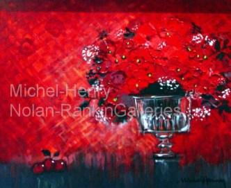 "La Coupe Rouge   NR2651   8 Figure: 18.25"" x 14.75""   Michel-Henry   Oil on Canvas   Nolan-Rankin Galleries - Houston"