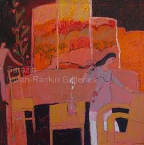 """La Cremiere NR3036 70cm x 70cm: 27.5"""" x 27.5"""" Michel Sarazin Oil Pastel"""