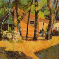"Le Jardin a St Brevin | NR3357 | 20 Figure: 28.75"" x 23.5"" | Pierre Neveu | Oil on Canvas | Nolan-Rankin Galleries - Houston"