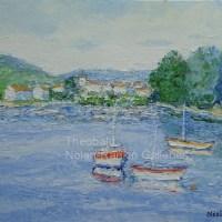 NR3414 Petit port 15 Figure: 29.5 x 21.25 in. Renee Theobald Oil on Canvas (palette knife) | Nolan-Rankin Galleries - Houston