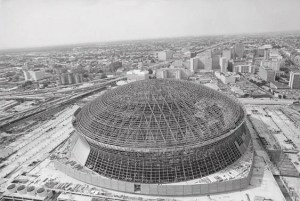 Construction of The Louisiana Superdome - AP Photo/Jack Thornell
