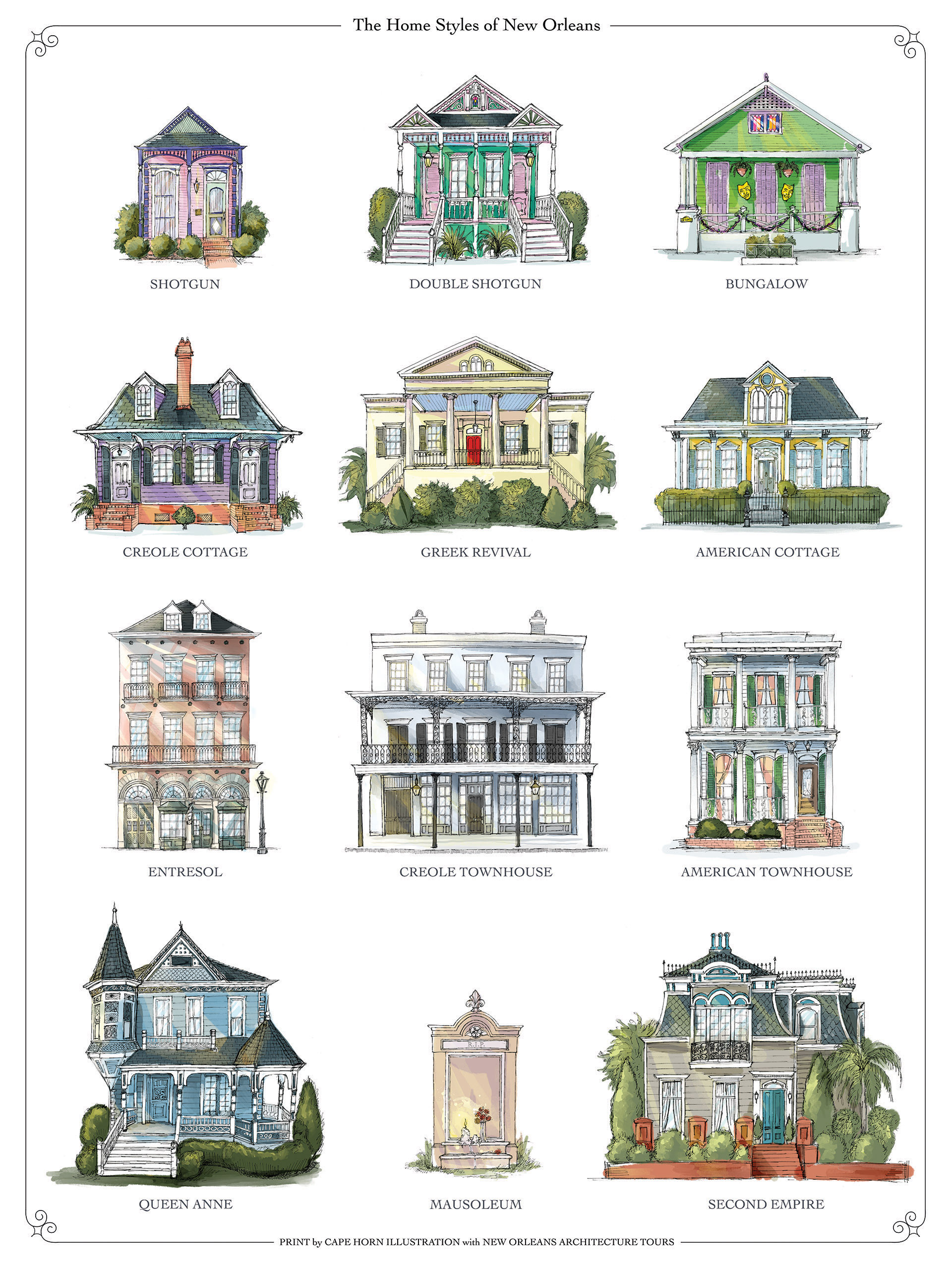 New Orleans Architecture Tour's Guide to New Orleans Houses! – New ...