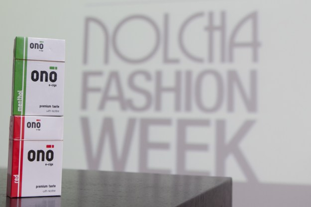 ONO e-cigs at Nolcha Fashion Week in New York for 2014 Fall/Winter presented by RUSK.