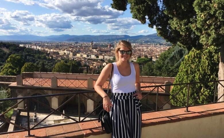 Hallie in Florence during her internship.