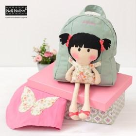 Adriana: muñeca, toalla y mochila personalizadas