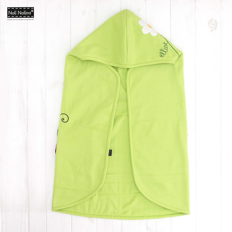 manta-capa polar personalizada para el bebé elliot