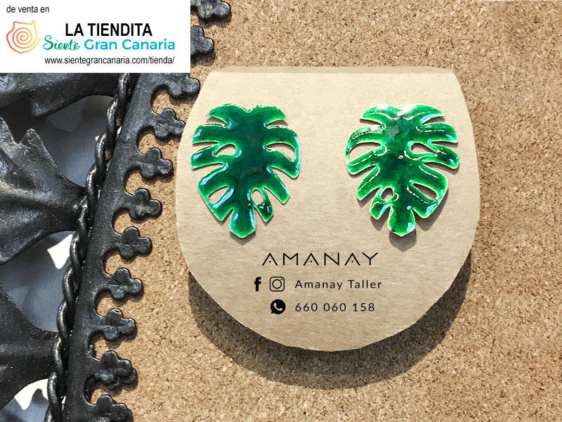 Amanay pendientes Costillas de Adán a la venta en la tienda de artesanía LA TIENDITA