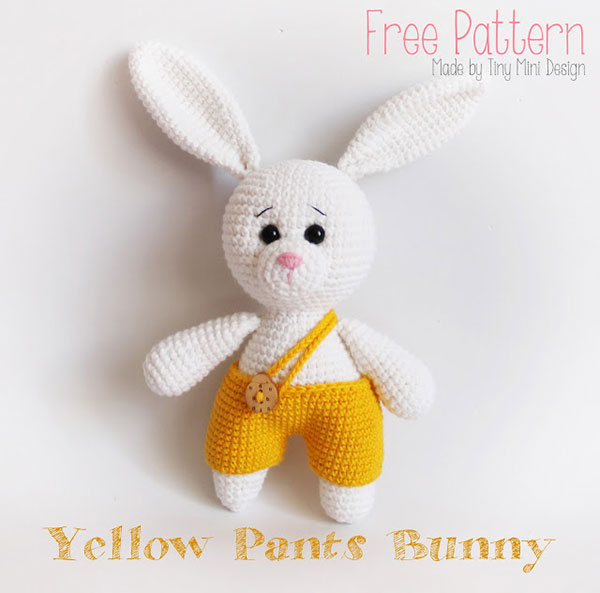 Hướng dẫn móc thỏ len yếm vàng tinh nghịch