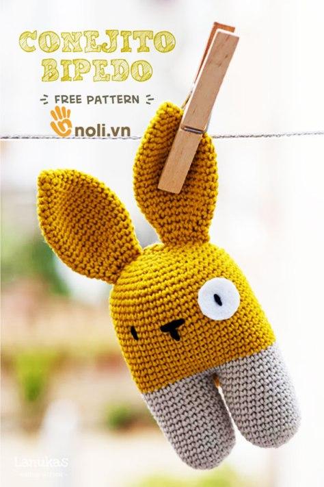 Độc đáo, sáng tạo với thỏ Bunny len móc tai dài