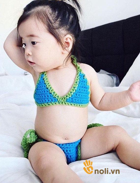 Bộ sưu tập bikini len cho bé vô cùng đáng yêu