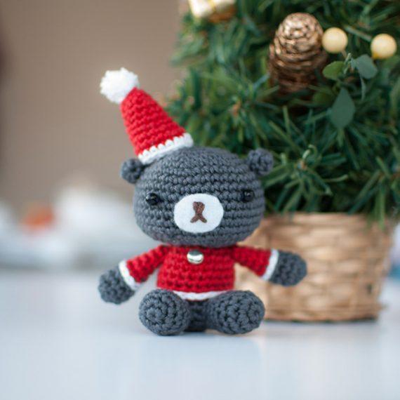 Hướng dẫn móc gấu Teddy giáng sinh siêu đáng yêu