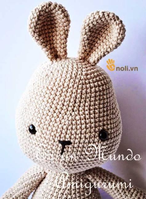 Hướng dẫn móc thỏ mặc váy hoa xinh xắn, điệu đà