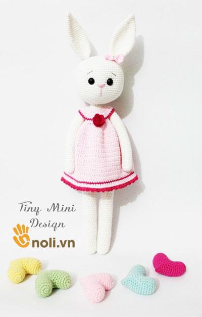 Chart móc thỏ Cracker mặc váy hồng của Tiny Mini