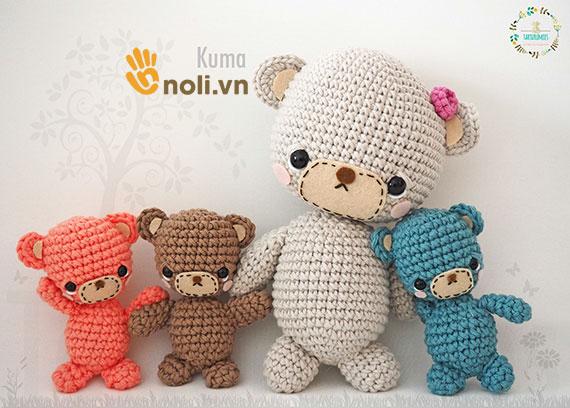 Có bao nhiêu bạn yêu thích chart móc gấu teddy Kuma xinh xắn này?