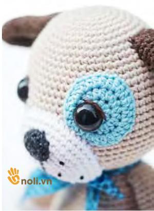 Hướng dẫn móc chú chó Puppy Paul của nhà thiết kế Mari-Liis Lille