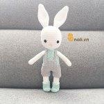 Hướng dẫn mẫu thỏ Wilbur xinh xắn của nhà thiết kế Deliami