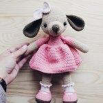 Hướng dẫn móc bé cún Eva váy hồng đáng yêu dành cho bé gái