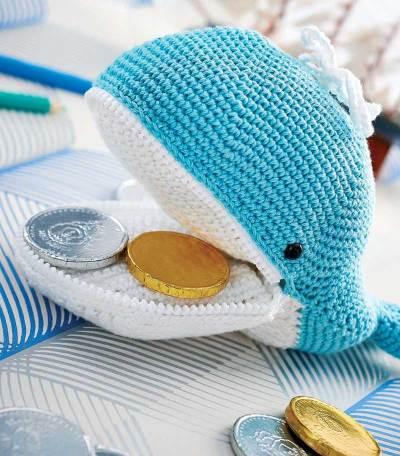 Hướng dẫn móc ví cá voi cho bé yêu đi chơi tết