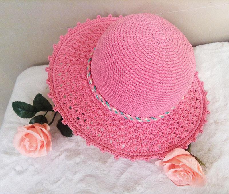 hướng dẫn móc nón hồng nhà Nhã Nhã