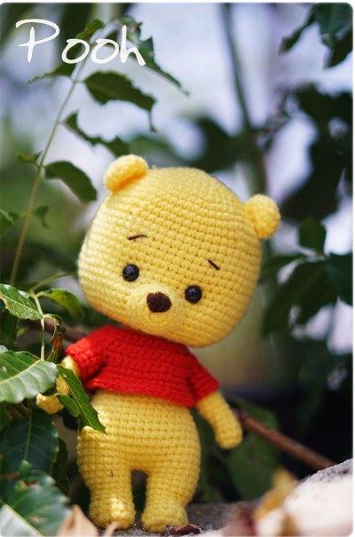 Hướng dẫn móc gấu Pooh của tác giả Orange Amigurumi