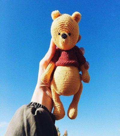 Móc mẫu gấu Pooh cool ngầu của tác giả Alina-Yapaeva-AlinetToys