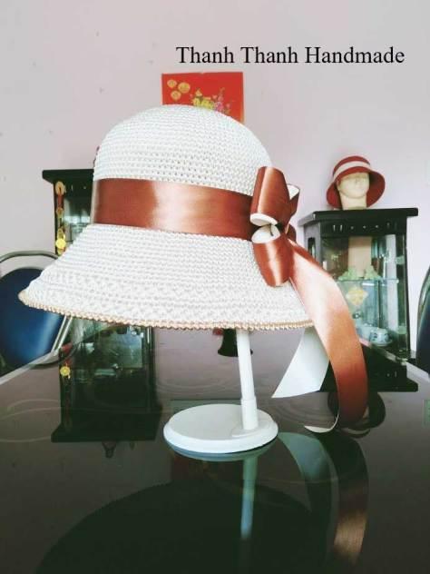 Chart móc mũ thô vành phớt của tác giả Thanh Thanh Handmade