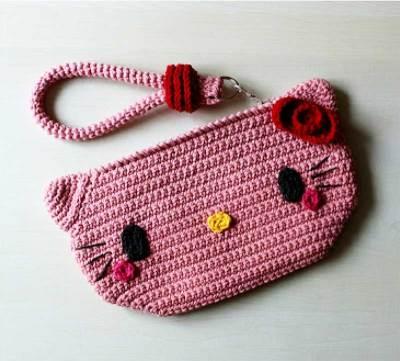 Hướng dẫn móc mẫu túi mèo Hello Kitty cho bé gái