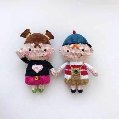 Móc cặp đôi búp bê mini siêu dễ thương (người dịch Sunny Mía)
