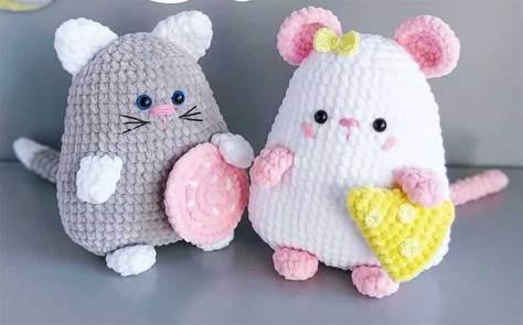 Hướng dẫn móc mẫu mèo chuột siêu đáng yêu