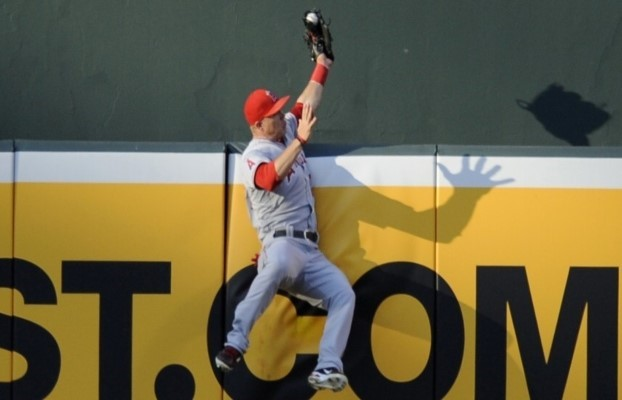 Mike Trout's luck has nothing to do with his defensive ability, as he is a superstar.