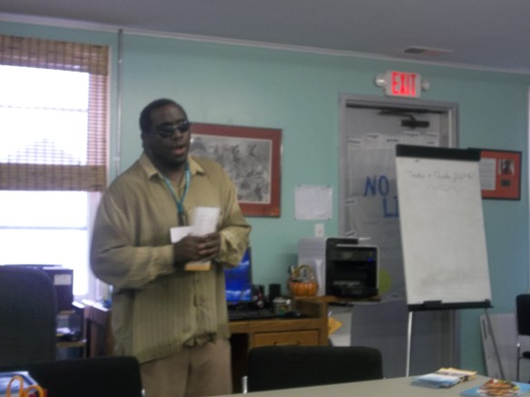 William Weeks from Family Preservation Services came   to speak to us this week!  We loved his great, up beat personality!