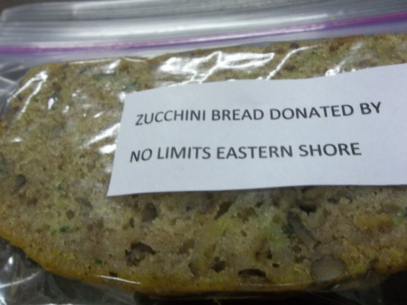 """Zucchini bread all ready to go to the """"Dash of Hope"""" dinner!  """"Hope they enjoy it because i know we did!""""  Zel"""