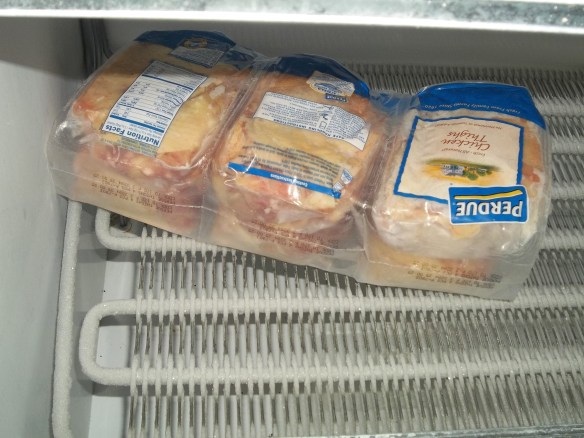 Thank you Steve Walker for donating chicken for our new freezer!
