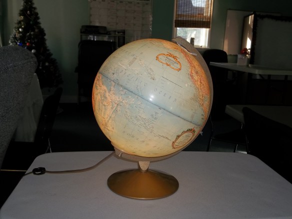 Thank you to our local DARS office for our awesome light up globe. It is so cool!!!