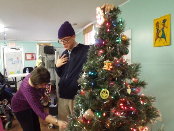 We had no idea Brandon was that tall!  Merry Christmas!