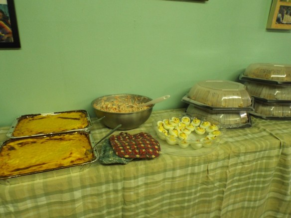 Look at all of the delicious treats we had for our Christmas Lunch!  Yum!