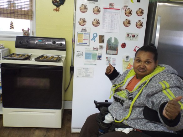Yum Yum More!! Amy & some outreach cooking cookies!