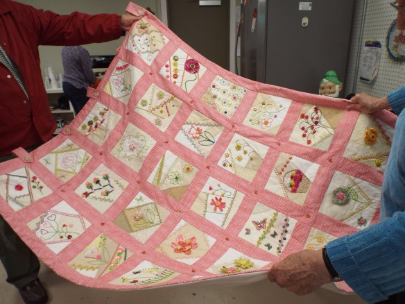 This beautiful quilt was donated to us as a fundraising item. It is awesome!