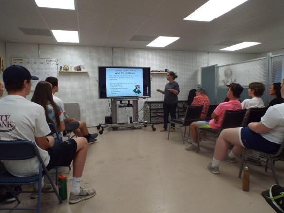YouthWorks week 4 getting their Brain Injury prevention presentation