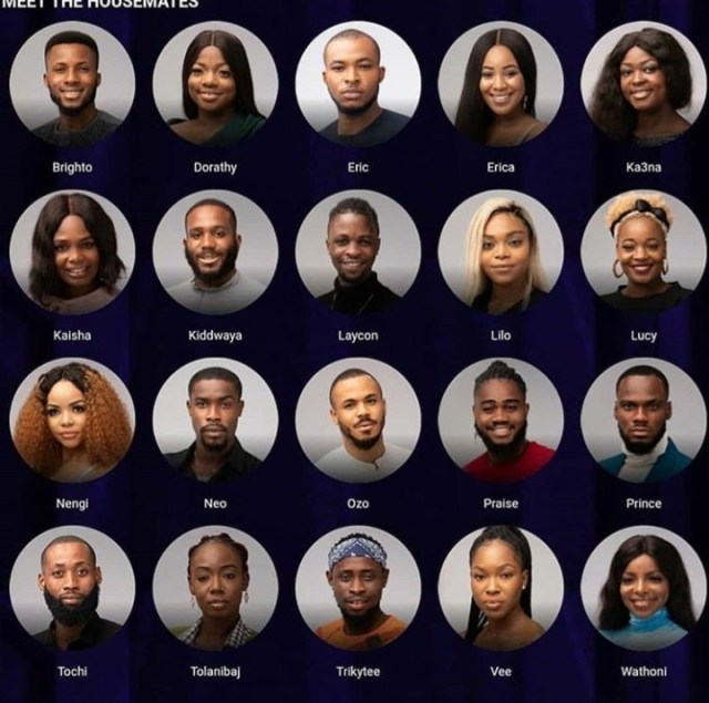 Big Brother Naija 2020 housemates