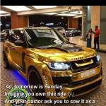 Imagine You Own This Ride & Your Pastor Asks You To Sow A Seed With It, Will You?