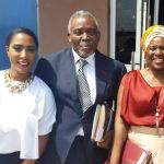 Nollywood veteran actors Olu and Joke Jacobs pictured with Mrs Osinbajo at event
