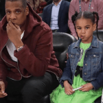 Jay Z, Beyonce and Blue Ivy at the NBA AllStar Game