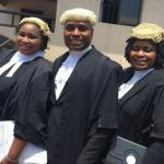 Family of Lawyers! Check out photos of Nollywood actor Kenneth Okonkwo and his sisters at Enugu High Court