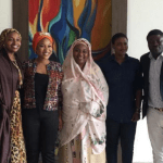 Tonto Dikeh pictured with wife of Kebbi state governor after a meeting
