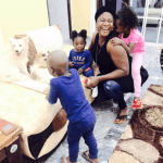 Mercy Johnson shares beautiful pic of herself with her kids and the family's dogs