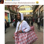 Keke Palmer steps out in London carrying 'Ghana Must Go'